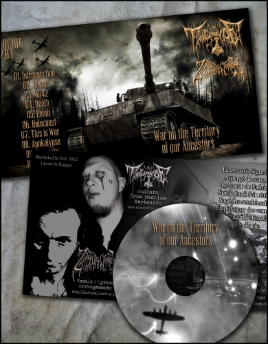 tank genocide feat zbt,war on the territory of our ancestors,zarach' baal' tharagh,démo-k7,démo cd-r,demo-tape,black metal