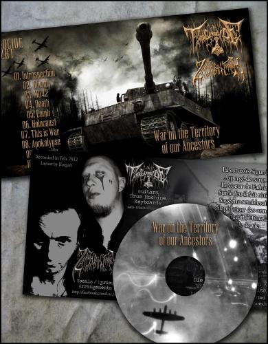 tank genocide feat zbt,war on the territory of our ancestors,zarach' baal' tharagh,démo-k7,démo cd-r,demo-tape,black metal
