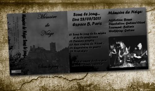 mémoire de neige,live,démo,2011,a.a.w.o.s