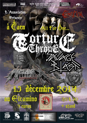concert,association esprit metal,torture throne,savage blast,morbak,thrash metal,death metal,métal français