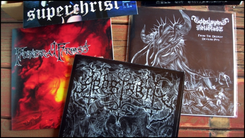 7'eps,45t,45 tours,vinyls,boîtes duke,black metal,thrash metal,black-death,heavy metal,aryos,ensamhet,nunslaughter,mordichrist,enthroned,baël,temple of baal,superchrist,zarach' baal' tharagh