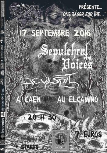 Concert, Normandie, DEVILSPIT, SEPULCHRAL VOICES, association esprit metal, Thrash Metal, Black metal, El camino, Caen
