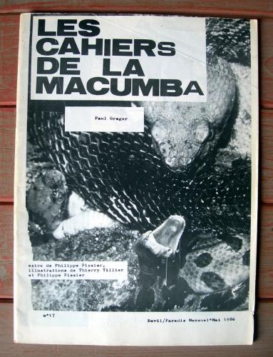 paul gregor,les cahiers de la macumba,thierry tillier,philippe pissier,sorcellerie