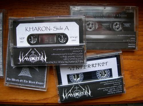 arghoslent,bliss of flesh,deathcode of the abyss,bael,dark opus,antaeus,herjan,vinterriket,neodawn,kharon,malevolent creation,mistigo varggoth darkestra,munruthel,nokturnal mortum,panzerfaust,nachtmystium,regnant & thrall,rossomahar,black metal,ambient,ambiant,tapes,démo,collectors,k7