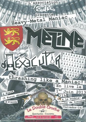 esprit metal,meline,hexecutor,concert,normandie,heavy metal,thrash metal,la double croche,association esprit metal,concerts juin 2013